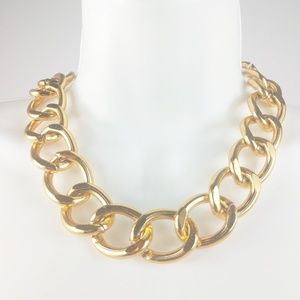 Chunky Gold Chain Necklace Adjustable Length